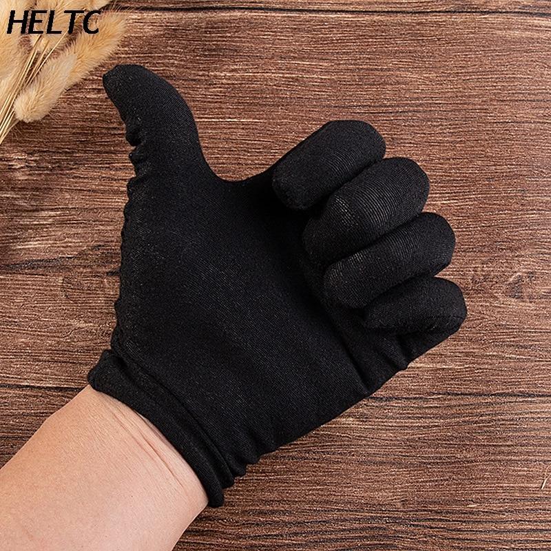 Модные перчатки из спандекса, черные тонкие короткие эластичные танцевальные перчатки