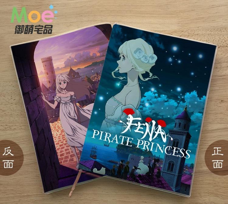 Блокнот для студентов с аниме пиратской принцессой, блокнот с деликатной защитой глаз, 8750 бриллиантов в подарок