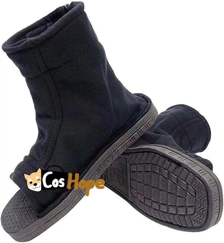 Naruto Ninja Shoes Naruto Cosplay Unisex Black Shippuden Shoes for Cosplay Akatsuki Uzumaki Sakura Sasuke Black Shoes for Men
