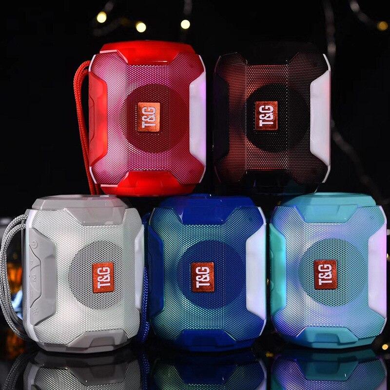 Altavoz Bluetooth con Radio LED, minialtavoz inalámbrico portátil, con lámpara sistema de...