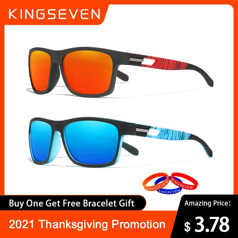 aliexpress.com - Special Promotion KINGSEVEN Brand Sunglasses Men's Polarized Lens Sun Glasses Women UV400 7th Anniversary Thanksgiving Activity