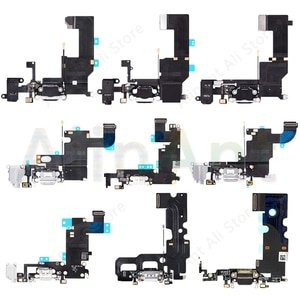 AiinAnt Original USB Charging Port Charger Dock Connector Charging Flex Cable For iPhone 5S 5 SE 7 6 6s Plus Phone Repair Parts
