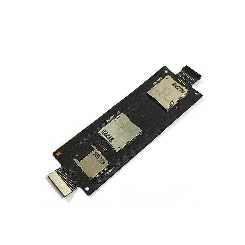 10 Uds para ASUS Zenfone 2 5,5 ZE550ML ZE551ML bandeja lectora de tarjetas Sim tarjeta de memoria Micro SD titular ranura flexible Cable reparación de piezas