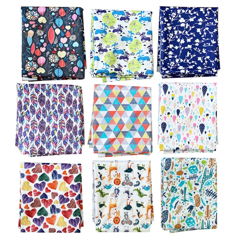 Washable Waterproof rinted PUL for High Quality Baby Cloth Diapers Fabric Wet Bags