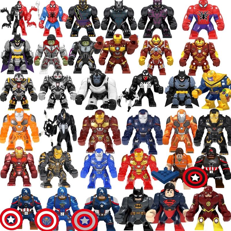 Bloques de construcción Endgames Spiderman Capitán América Ironman Guantelete del Infinito cromado con piedras de poder figuras para niños Juguetes