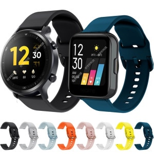 For Realme Watch S Strap Silicone Band Black Sport Watchband Bracelet Replacement Wristband For Realme Watch ремешок correa