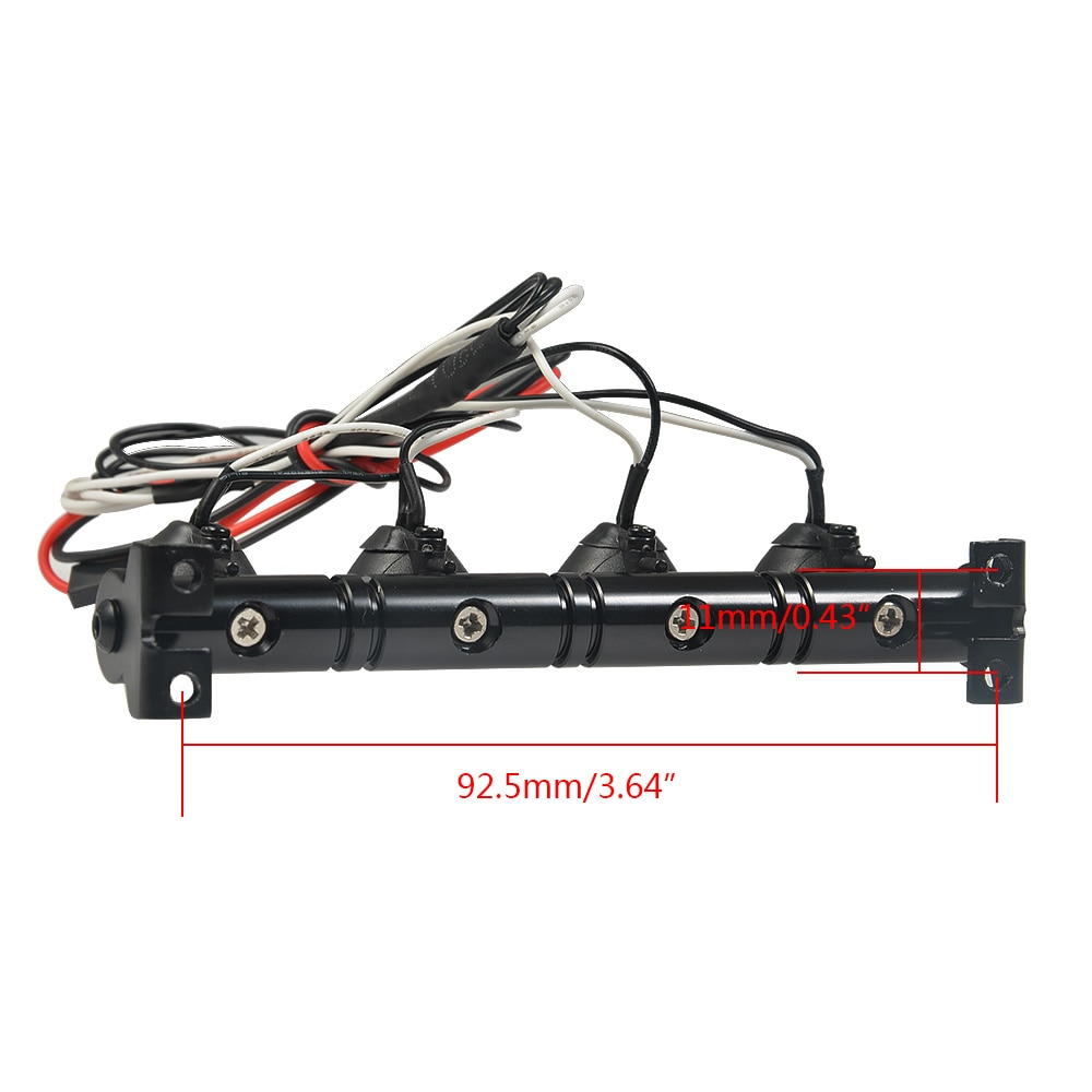 Hella Round Bright LED Lamp Roof Light Search Lights for 1/10 RC Rock Crawler TRX-4 Off-road RC Car Part enlarge