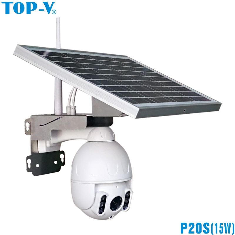 1080P impermeable wifi energía solar exterior PTZ auto seguimiento de seguridad velocidad Domo IP Cámara