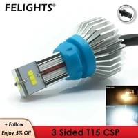 2x t15 w16w high power led bulb car backup reverse lights 3156 auto canbus error free turn signal led brake lamp drl white 12v