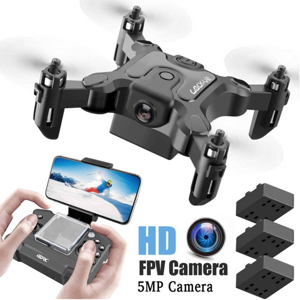 New Mini Drone Quadcopter With/Without Camera HD Hight Hold Mode RTF WiFi Folding Aerial RC Helicopt