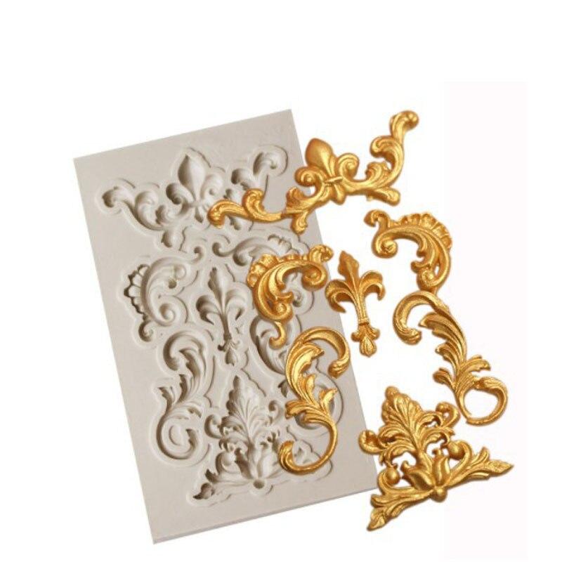 Moule à Fondant Silicone 3D Relief   Moule de décoration de gâteau au chocolat, outils de cuisson, moules en Relief, outil pour palais Vintage européen