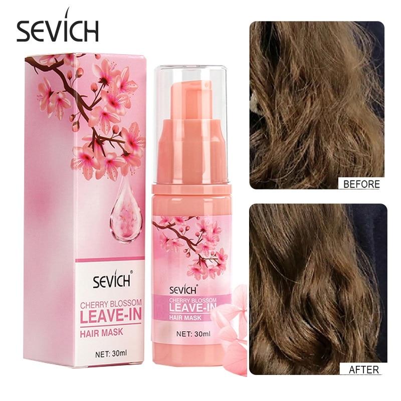 Sevich Sakura Leave-in Hair Mask Nourish Scalp Repair Dry Damage Keratin Hair Treatment Nursing Glycerol Hairdressing Hair Care недорого