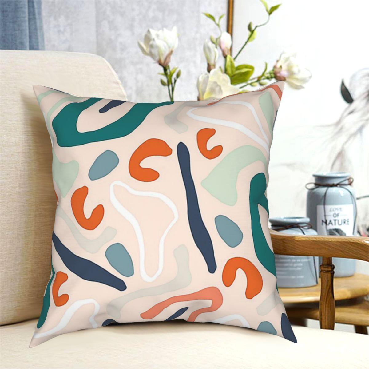 Современная простая абстрактная напольная подушка, подушка для кровати, дорожная подушка, наволочка, декоративная подушка, чехол, домашние ...