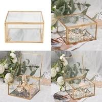 jewellery box transparent glass room glass box ring box wedding ring jewelry earring box preserved flower decorative box