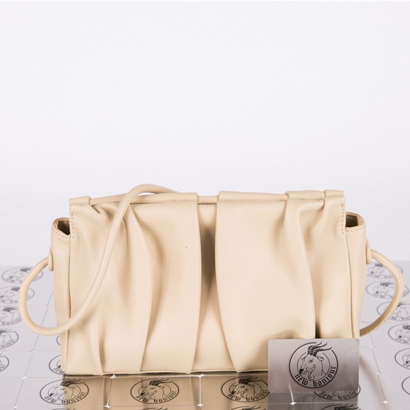Маленькая квадратная сумка с покрытием из воловьей кожи, женская модная сумка-мессенджер на одно плечо, 2021