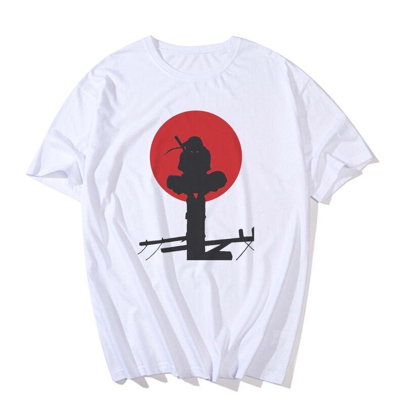 Nueva camiseta a la moda con el logotipo de Naruto, Camiseta con estampado de akatsuki, camisetas de Anime Itachi Uchiha, camisetas de disfraz de talla grande, S-3XL