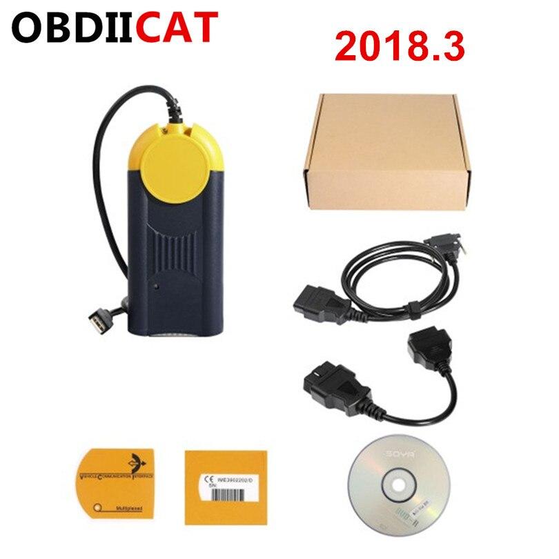 Gran venta Multi Diag J2534 V2018.3 dispositivo OBD2 de paso Multi-Diag DE ACCESO J2534 interfaz de diagnóstico de coche herramienta