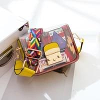 transparent woman new candy color funny small bag wide shoulder bags handbag fruit bag for girl gifts harajuku fashion