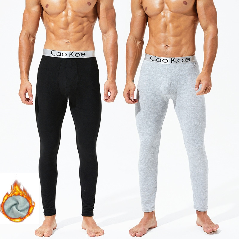 Ropa interior para hombre Pantalones largos térmicos gruesos más cálidos calzoncillos de algodón ropa interior de invierno para hombre