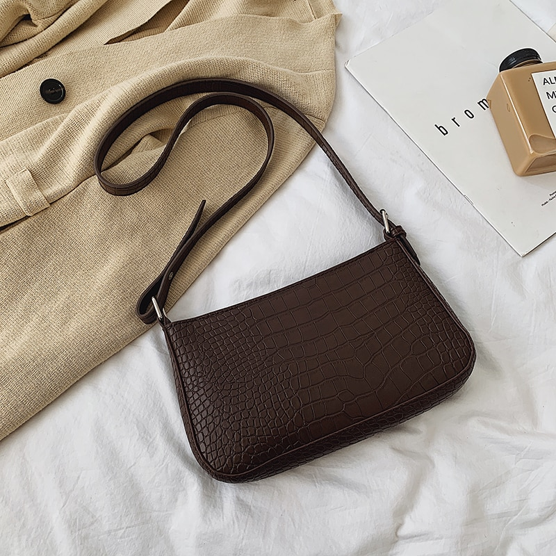 Retro Crocodile Pattern Women's Bags PU Leather Totes Women's Shoulder Bag Chest Bag Clutch Purse Lady Handbags 2019 new