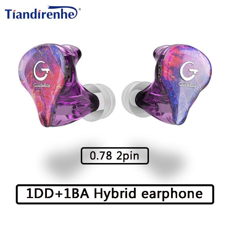Auriculares híbridos de 2 pines de 0,78mm, auriculares 1BA + 1DD, potentes auriculares estéreo hechos a medida, auriculares de alta resolución, auriculares para DJ Monitor nes