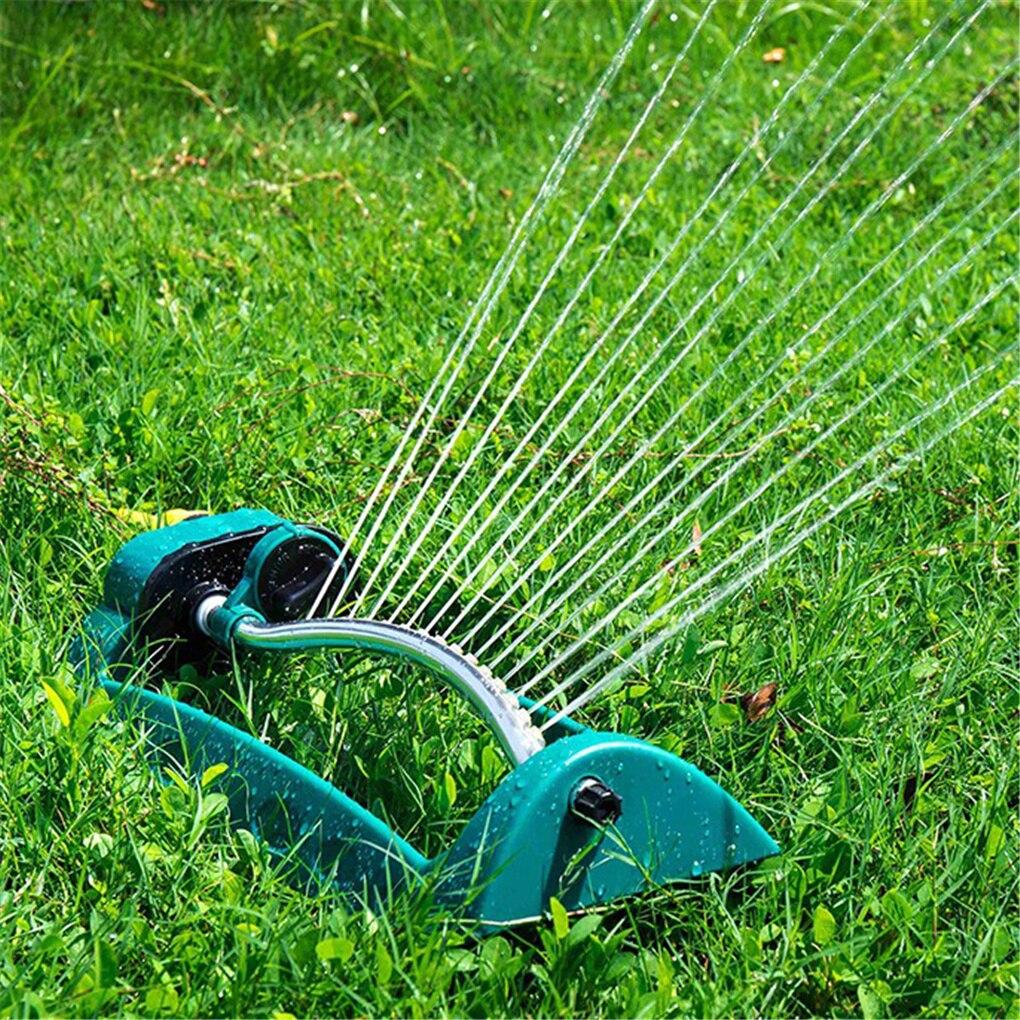 15 Holes Adjustable Alloy Watering Sprinkler Cooling Sprayer Oscillating Oscillator Lawn Garden Yard Irrigation System
