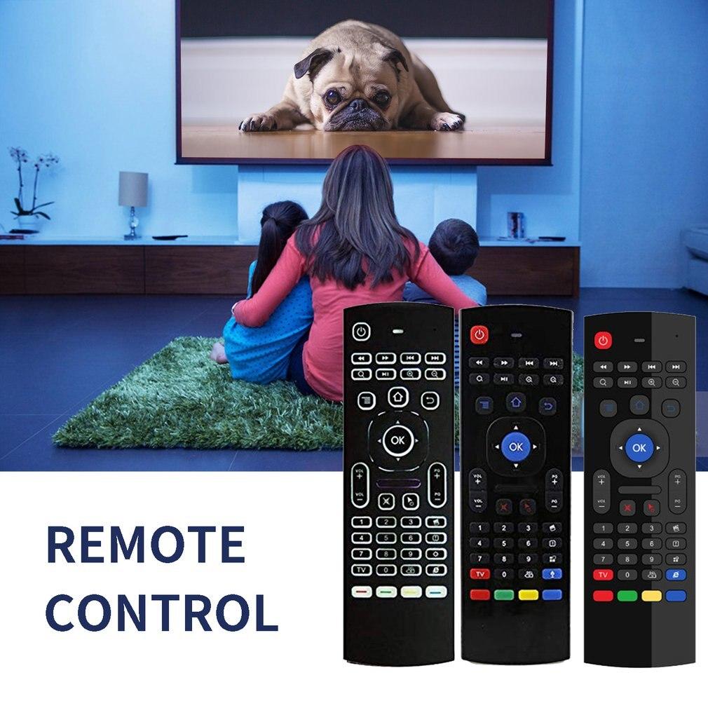 Mx3 Air Mouse versión retroiluminada por voz Android Smart Wireless Air Mouse Control remoto T3 Mouse y Teclado
