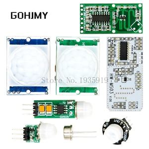 HC-SR501 HC-SR505 AM312 SR602 RCWL-0516 Adjust IR Pyroelectric Infrared Mini PIR module Motion Sensor Detector Module Bracket