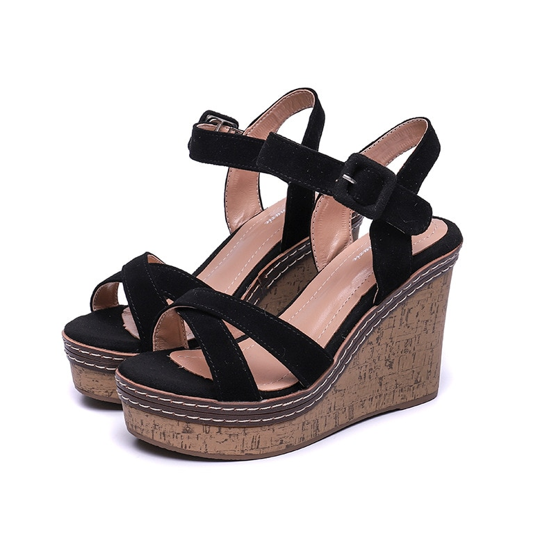 Summer Wedges Sandals Women High Heels Peep Toe Shoes 2021 Flip Flop Chaussures Femme Platform Sandalias Casual Plus Size
