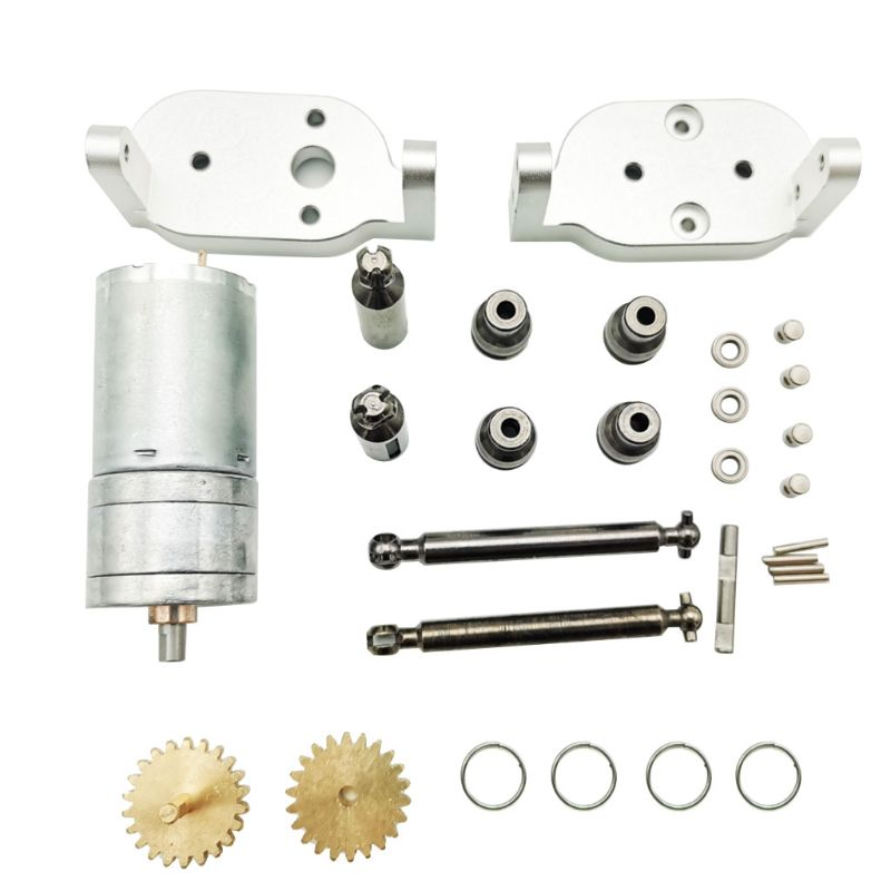 Para WPL mejora 370 caja de cambios de marcha atrás de Metal con eje de transmisión de Metal accesorios de transmisión repuesto OP montaje C14 C24 C34 4x4,