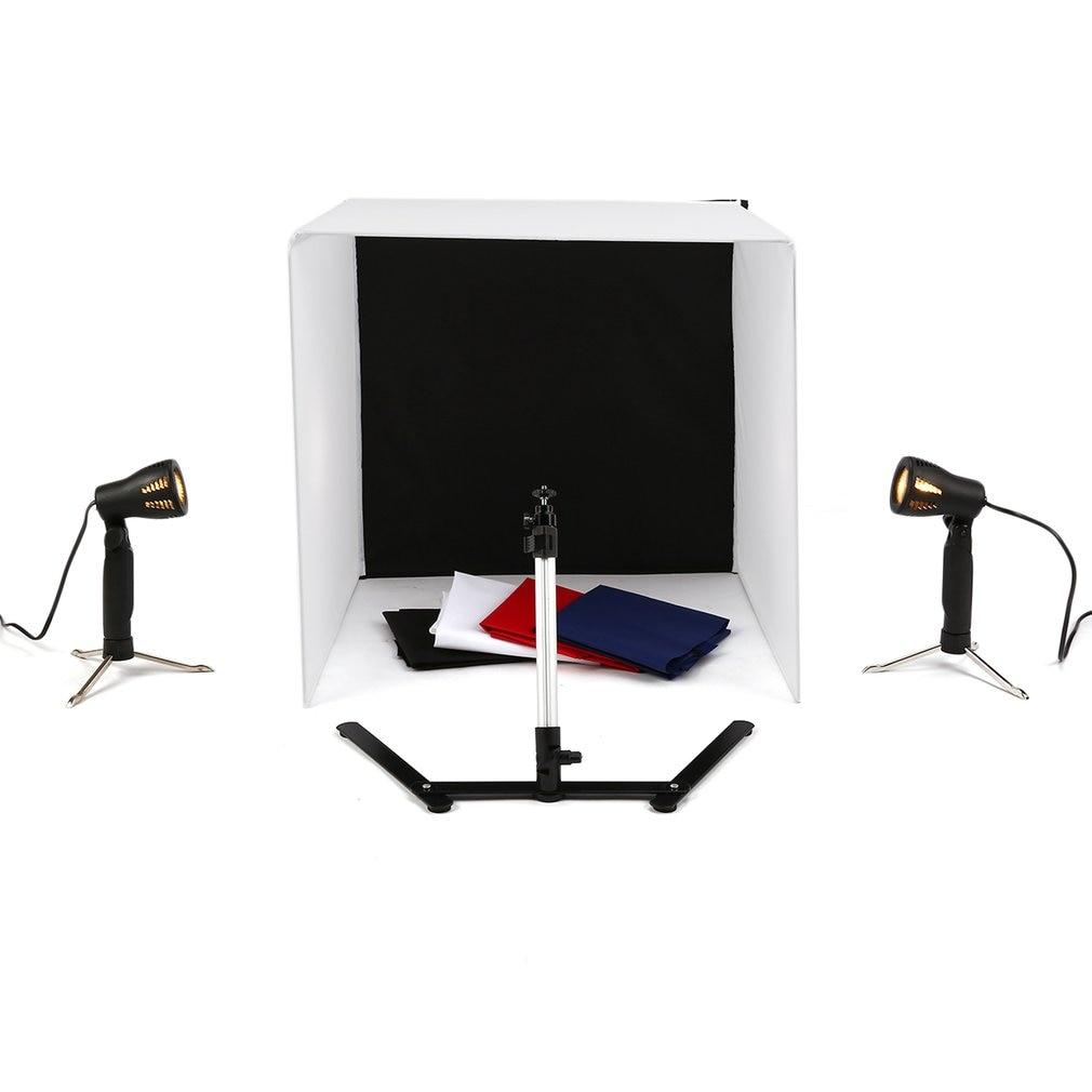 Portable Size 40cm Foldable Photography Camera Photo Studio Box Light Tent Set Box Set for Digital DSLR Camera drop shipping enlarge