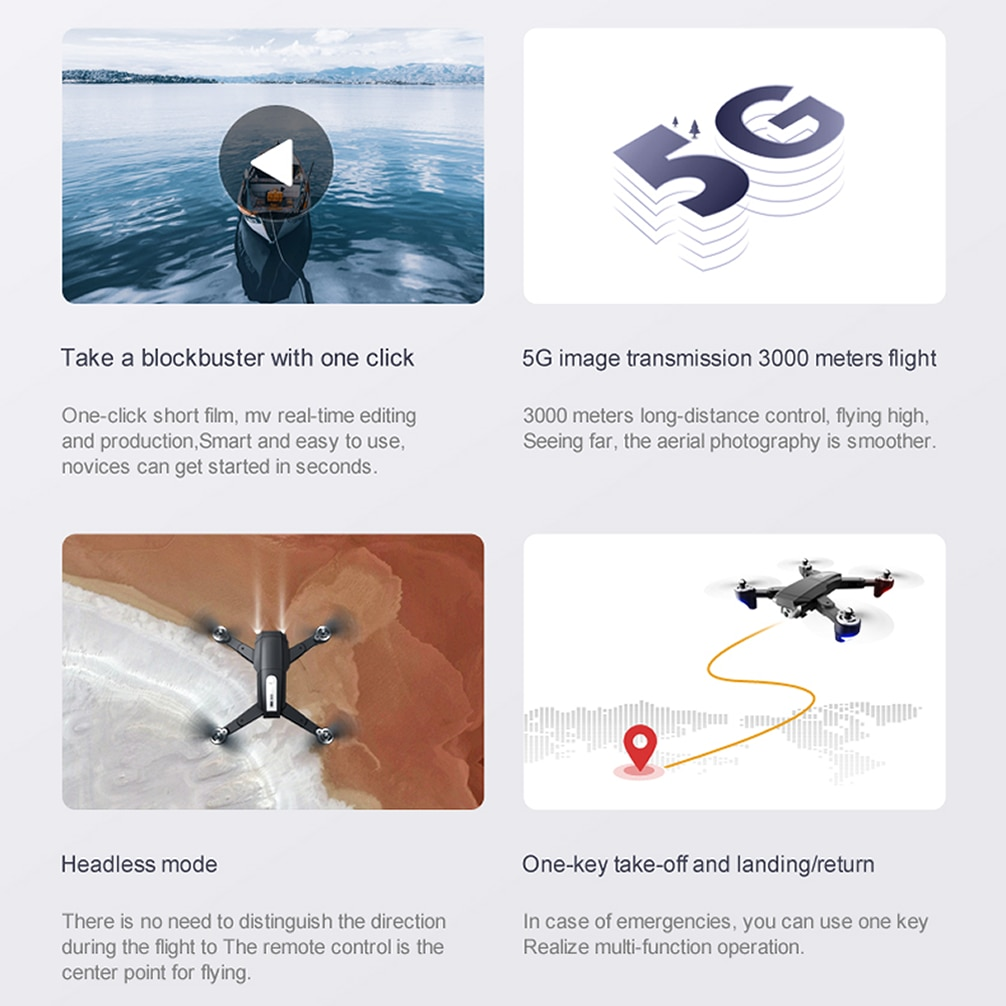 UAV RC Drone GPS with 6K HD Dual Camera Professional Aerial Photography Quadcopter Remote Control Brushless Motor Aircraft enlarge