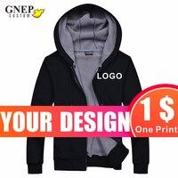 Толстовка с капюшоном на молнии для пар, милая рубашка с эксклюзивным логотипом на заказ, модная однотонная бархатная теплая куртка, GNEP2020