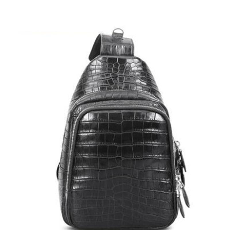 Cestbeau new men chest bag crocodile leather single shoulder bag men bag male bag new leisure  fashion crocodile skin