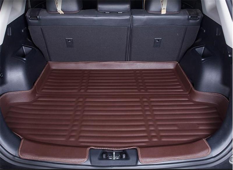 Diseño de coche 3D tridimensional PU caja de cola almohadilla de alfombra protectora maletero almohadilla de equipaje para Nissan x-trail X Trail T31 2017-2020