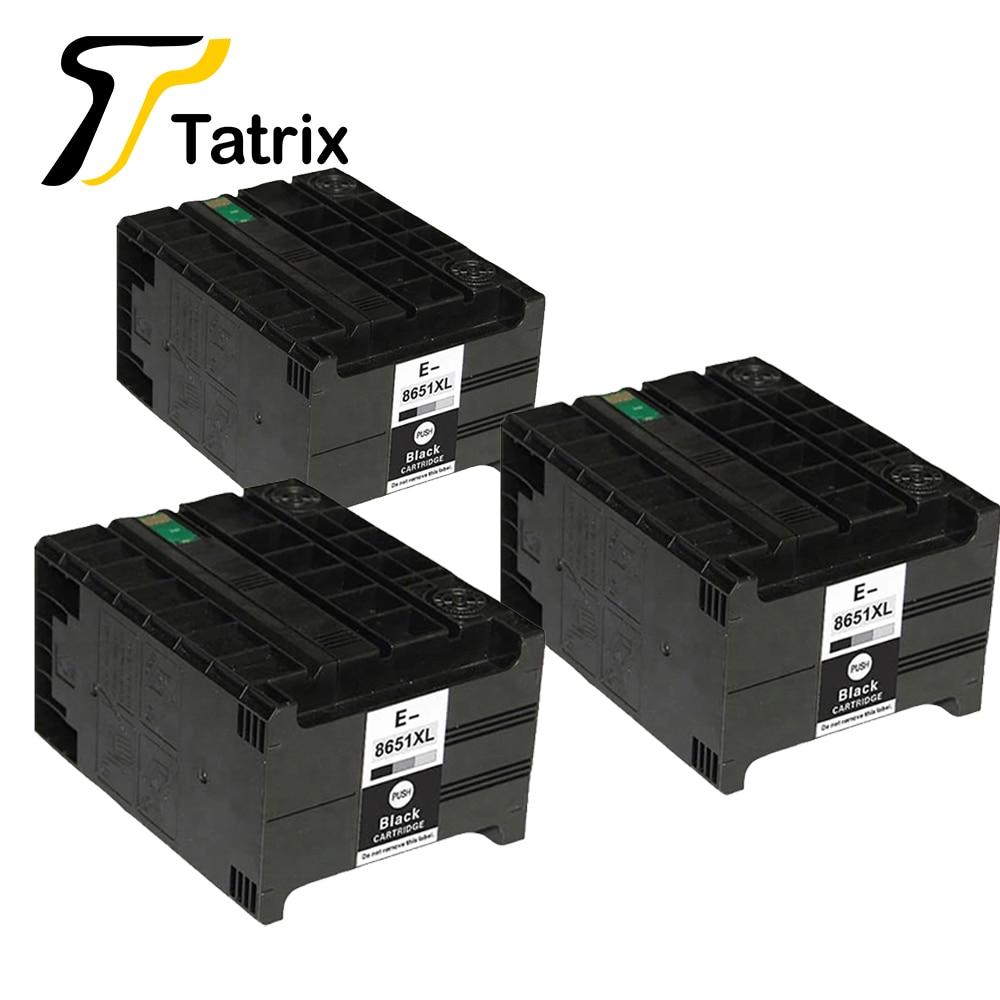 Tatrix 3 قطعة كامل الحبر متوافقة لإبسون T8651 T8651XL لإبسون القوى العاملة برو WF-M5190DW ، WF-M5190DW BAM ، WF-M5690DWF WF-M5690