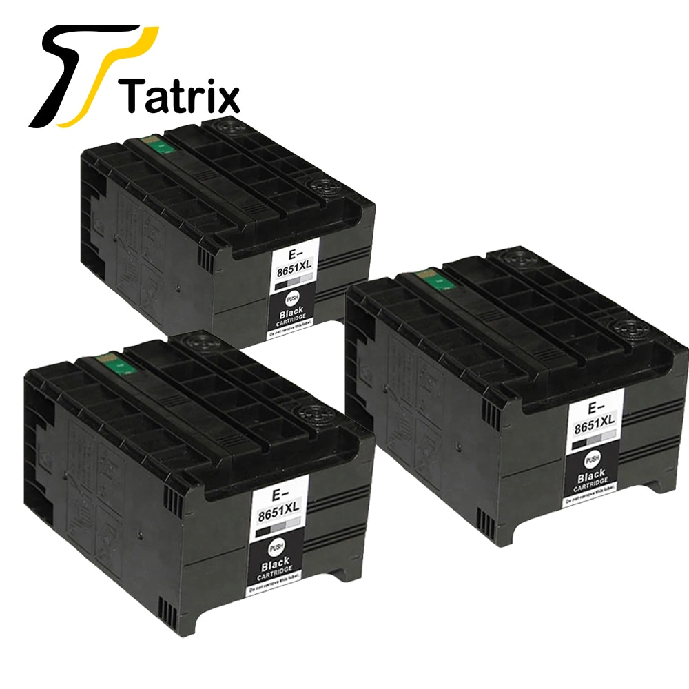 Tatrix 3 uds la tinta Compatible con Epson T8651 T8651XL para Epson Pro WF-M5190DW... WF-M5190DW BAM WF-M5690DWF WF-M5690