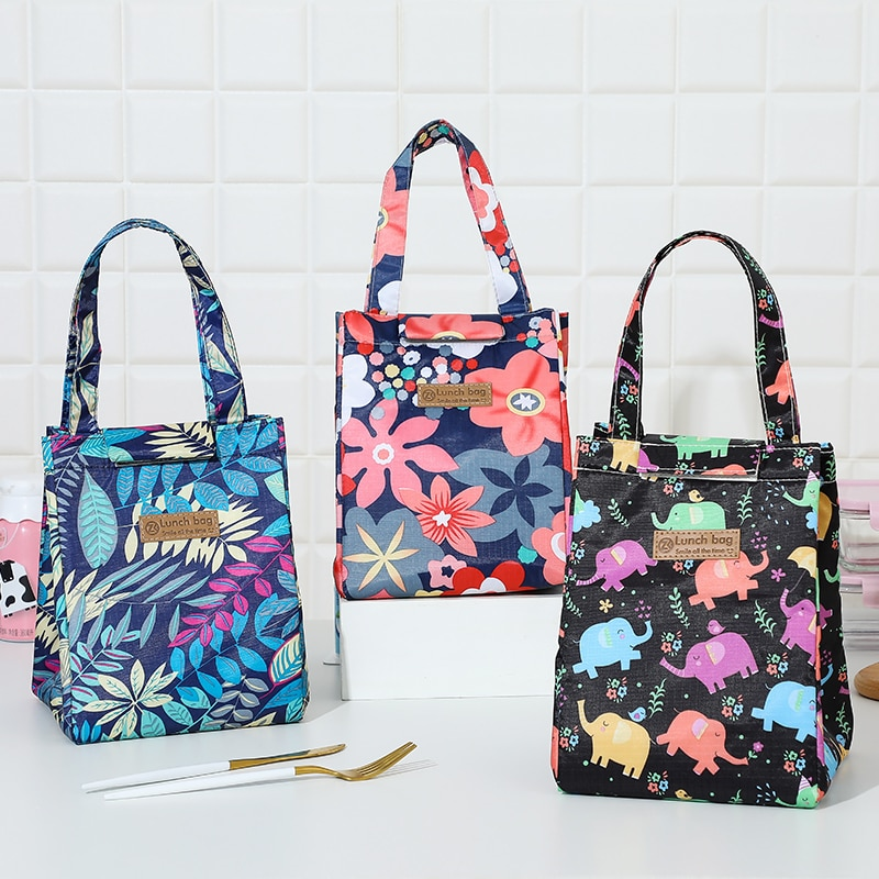 Lunch Bag Multifunction Cooler Bag Multicolor Waterproof Women Hand Pack Thermal Breakfast Box Portable Picnic Causal Travel