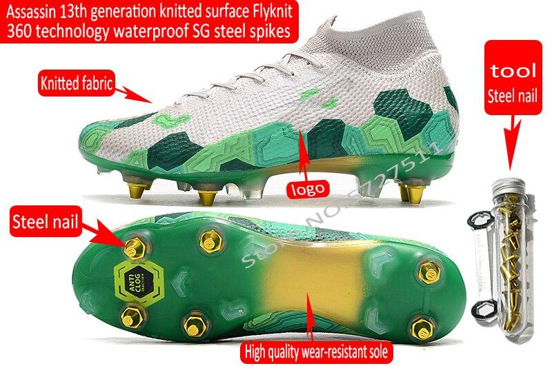 Free shipping assassin Vapor 13 Elite sg-pro stud soccer shoe football boots