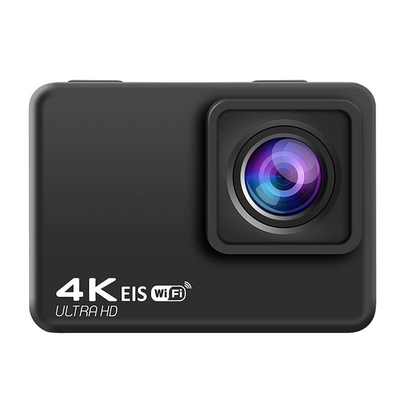 كاميرا رياضية 4K60FPS مقاوم للماء كاميرا رياضية EIS استقرار واي فاي التحكم عن بعد الرياضة DV