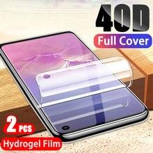 Гидрогелевая Защитная пленка для экрана samsung Galaxy S10 S10E S9 S8 Plus, полная защита для Note 9 8 S7 S6 Edge, 2-1 шт.