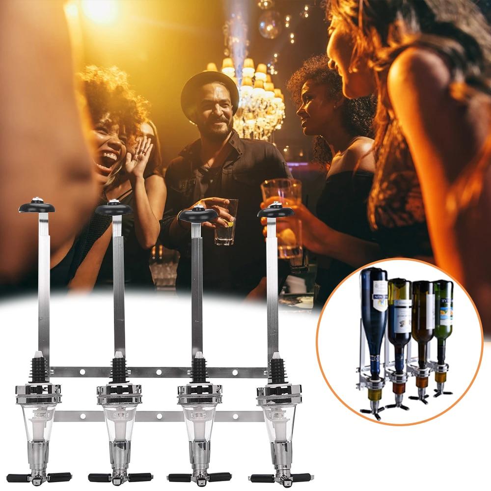 4 زجاجات ويسكي نافورة مشروبات الحائط موزع بار شرب رف الحائط نافورة مشروبات عدة نبيذ حفلات