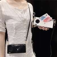 signalshin card holder crossbody pu phone cases for iphone 12 mini 11 pro xs max xr 7 8 plus huawei shoulder strap laser cover