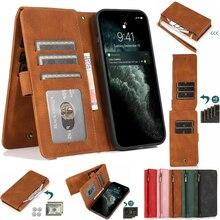 For MOTO G8/G8 PLUS/G8 play/G8 Power/G8 Power lite/One Macro Ultra Thin Zipper Cover Wallet 8 Card M
