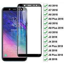 9D Protective Glass For Samsung Galaxy A6 A8 J4 J6 Plus 2018 Screen Protector Tempered Glass Samsung