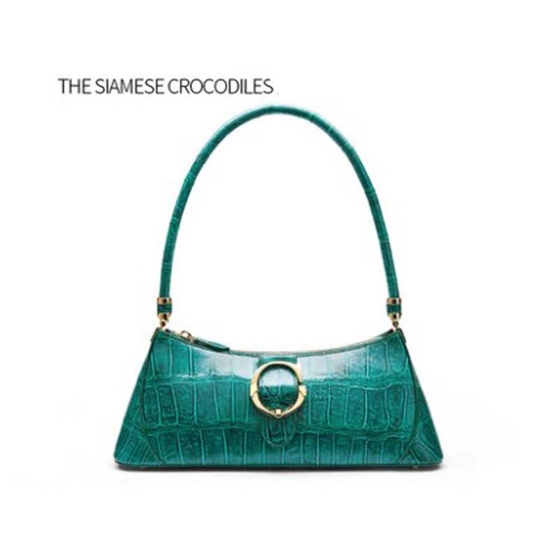 Gete التمساح الجلد المرأة حقيبة يد الموضة واحد الكتف حقيبة الإبط حقيبة وسادة حقيبة للنساء حقيبة