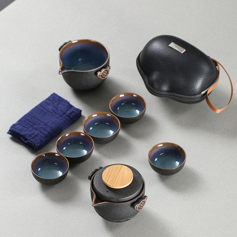 Высококачественный китайский дорожный чайный набор, Женский чайный набор, керамический портативный чайный набор, фарфоровый чайный набор ...