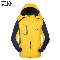 autumn winter fishing jacket thick velvet waterproof windproof fishing clothes daiwa breathable gamakatsu outdoor fishing wear