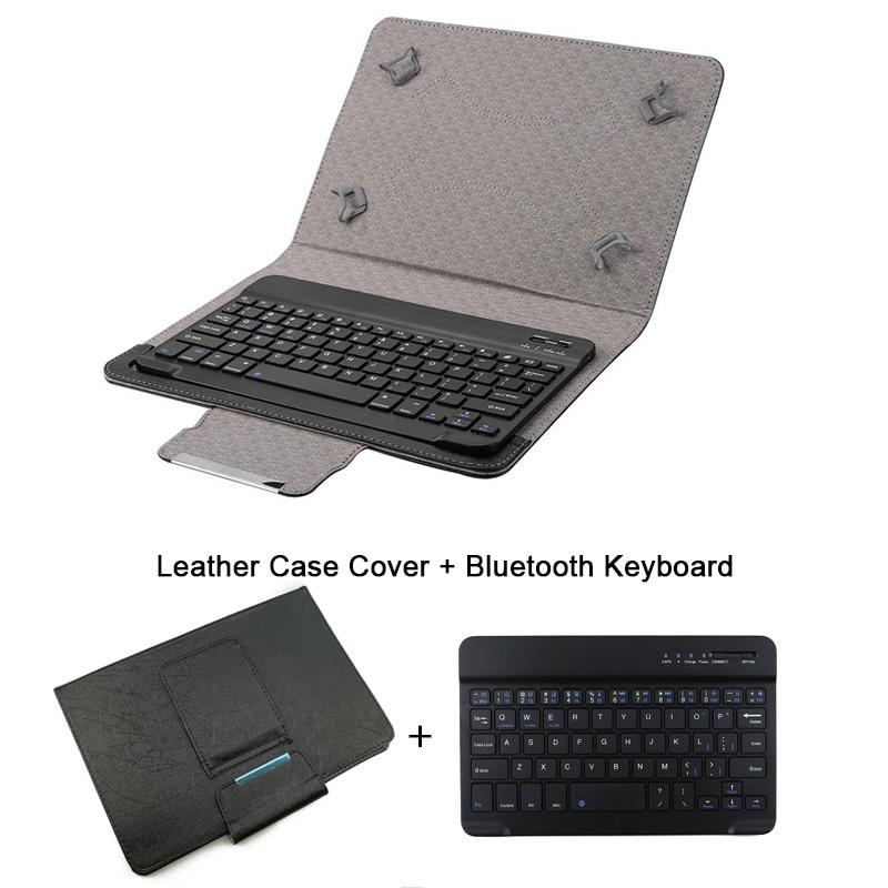 لوحة المفاتيح اللاسلكية ل 10 بوصة أندرويد IOS ويندوز مع بولي Leather حافظة جلدية حامل ل 10 بوصة جراب كمبيوتر لوحي غطاء للكمبيوتر اللوحي