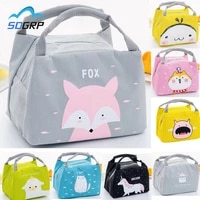 cartoon cute insulated lunch bag for women girl kids children thermal insulated lunch box tote food picnic bag milk bottle bag